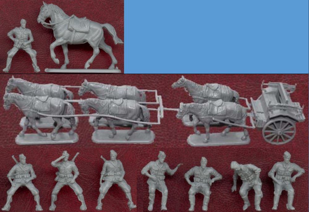02515, 1/72, Artillery, Cavalry, German, Horses, Revell, Soldiers