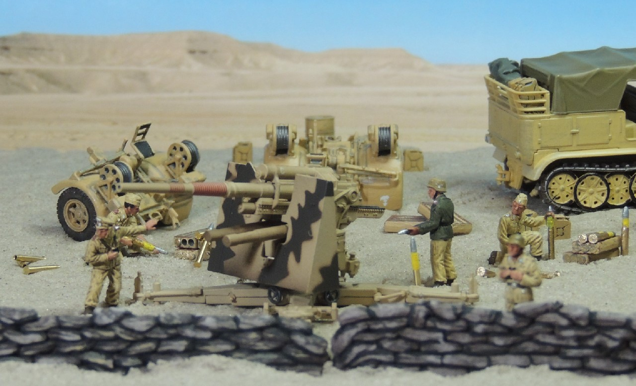 1/72 88043 ACE Afrikakorps Airfix Almark Altaya Artillery DAK Desert Deutsches Flak Fujimi German Hasegawa HG5002 HMX Hobby Master Italeri Kinetic Sand Luftwaffe Meyer Cap North Africa Panzerstahl Preiser Revell Rommel SHQ Softskin Soldiers Thor ValueGear Waba Fun