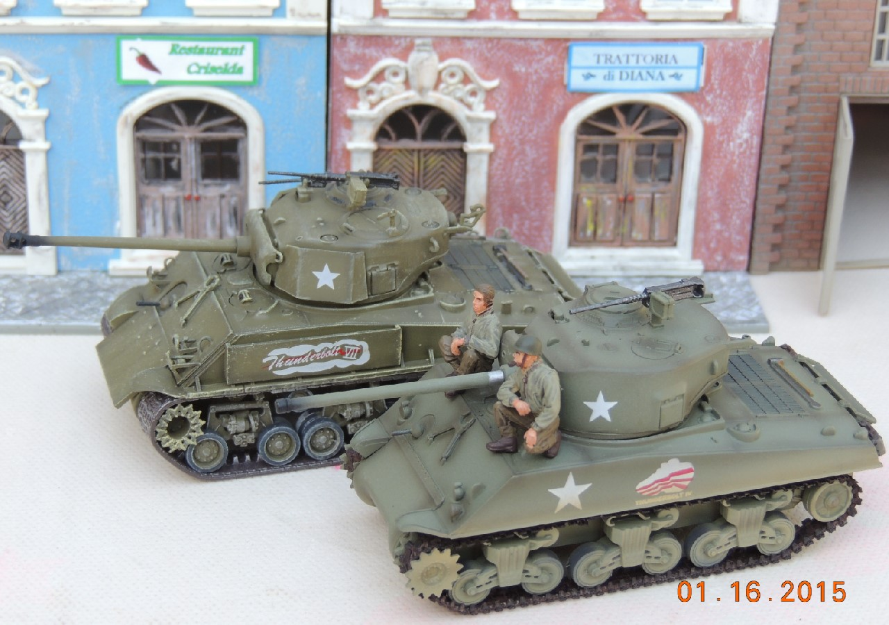 1/72 37th Tank Battalion 37th Tank Btn 4th Armored Division 60297 Abrams AFV Dragon HVSS M4A3E8 Sherman Tanks Thunderbolt U.S. Army