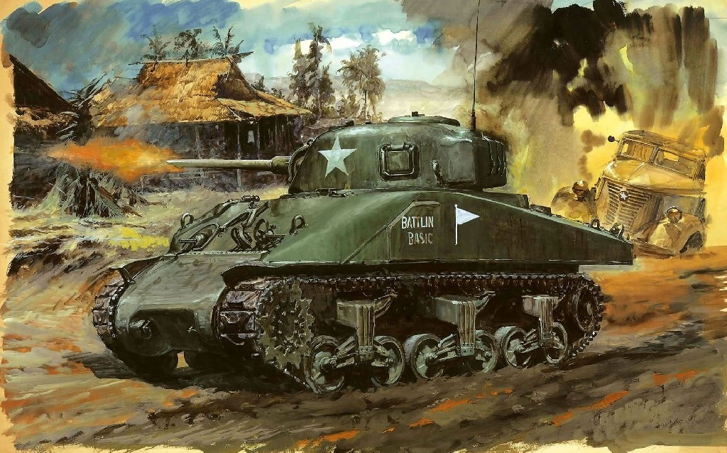 44th Tank Battalion, AFV, Battle of Manila, Battlin Basic, Internment, Japanese, Liberation, Manila, Pacific War, Philippines, Santo Tomas, Sherman, Tanks, U.S. Army, Yamashita, Yoshiyuki Takani